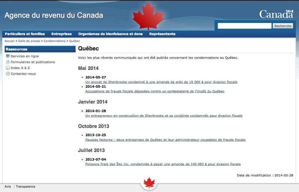 Fraude et gouvernement canadien
