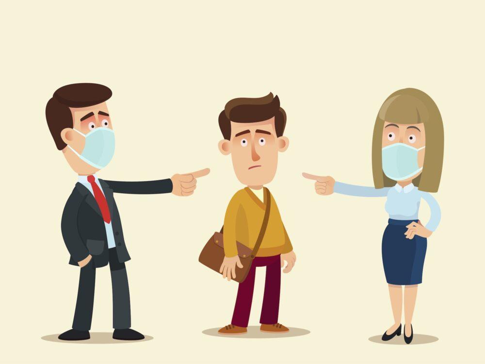 Covid-19 : les sanctions changent-elles la perception de la norme sociale? (©Shutterstock/vectorlab2D)