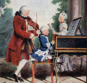 Le génie (ici, Mozart enfant) : l'un des critères qui déterminent l'existence d'une intelligence autonome, selon Gardner
