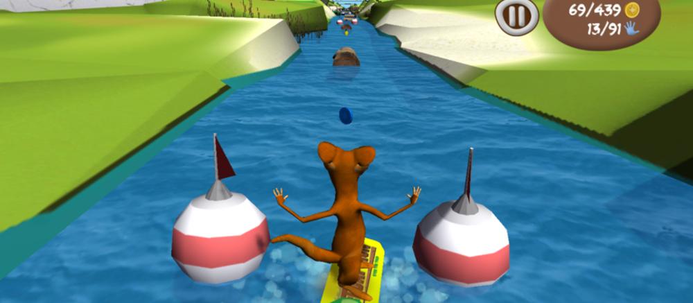 Capture d'écran du serious game Toap Run (©DR)