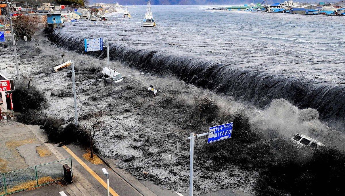 Le tsunami qui a frappé le Japon en 2011 ©DR