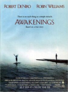 "Affiche du film ""Awakenings"" avec Robin Williams et Robert De Niro."