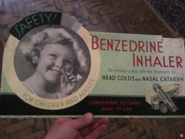 Publicité pour la Benzédrine (©DR)