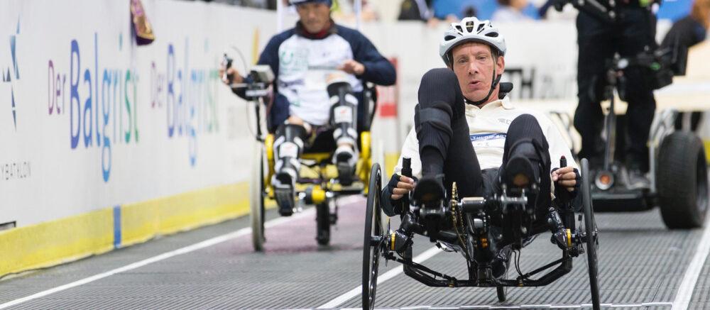 Vance Bergeron dans la course de vélo avec électro-stimulation fonctionnelle ©Nicola Pitaro