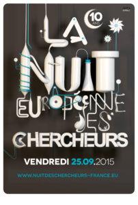 Affiche de la 10e Nuit européenne des chercheurs