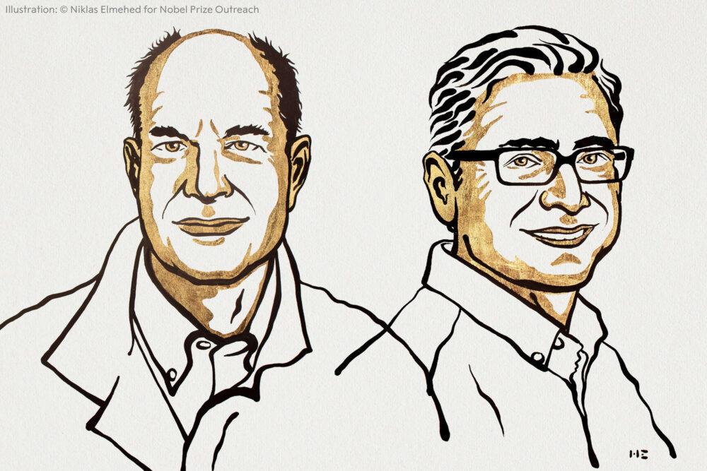 David Julius et Ardem Patapoutian, prix Nobel de médecine 2021 (©NobelPrize)