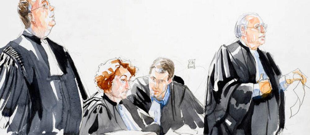 Quand la neuropsychologie est convoquée au tribunal I Croquis d'audience ©Sylvie Guillot, 2003 http://traitsdejustice.bpi.fr/home.php?id=44