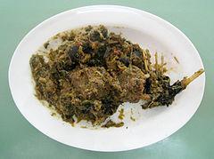 Plat à base de chauve-souris consommé à Manado, en Indonésie (Wikipedia)