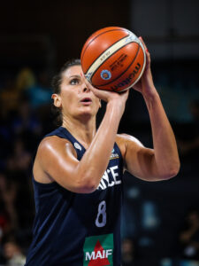 Tenerife, Spain, September 28, 2018: French basketball player Helena Ciak in action during basketball match BELGIUM vs FRANCE at Santiago Martin Arena. Michele Morrone